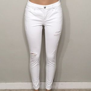 New. White stretch destroyed jeans. NWOT